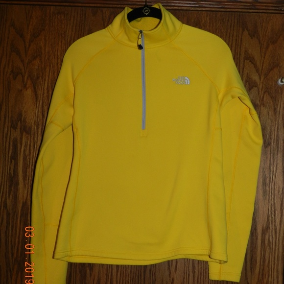 a2909bcf3 Women's North Face Yellow Fleece Lined Pullover